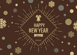 Happy New Year Greeting Card Template Template Fotojet