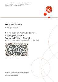 Towards A Cosmopolitan Cosmopolitanism Political Theory The