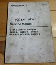 heavy equipment manuals books for daewoo forklift daewoo forklift g424 mitsubishi 4g64 engine maintenance service manual book lpg