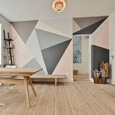 geometric wall paintSarah Richardson  You caught a glimpse at this geometric wall