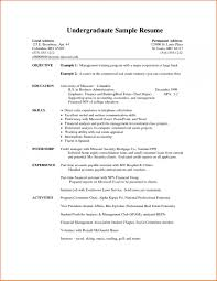 Sample Resumes For College Applications Sample Resume For College