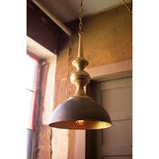 kalalou antique gold metal one light pendant hover to zoom