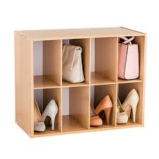 Shoe organizer furniture Space Saving Natural 8pair Shoe Purse Organizer The Container Store Shoe Storage Shoe Organizers Shoe Storage Ideas The Container Store