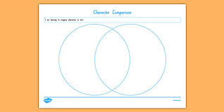 Comparison Venn Diagram Character Comparison Venn Diagram Worksheet Worksheet