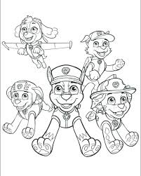 Christmas Paw Patrol Coloring Pages Paw Patrol Coloring Pages As