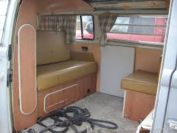 interior of a westfalia camper 1970