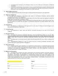 Mutual Confidentiality Agreement Mutual Non Disclosure Agreement 8