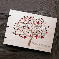 Wedding Guest Book Us 9 22 29 Off Owl Wedding Guest Book Rustic Guest Book Heart Tree Wedding Photo Album Wooden Wedding Gifts For Guests Anniversary Gifts In