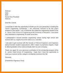 thank you letter for scholarship college scholarship thank you letter