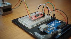 arduino tutorial easydriver and stepper motor everything hooked up