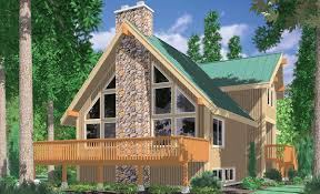 3683 a frame house plans vacation house plans masonry fireplace wall of