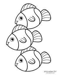 These skills form the foundation for early learning success. Top 100 Fish Coloring Pages Cute Free Printables Coloring Page Print Color Fun
