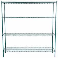 keep your storage area organized with the commercial grade regency 18 x 72 nsf green shelf kit