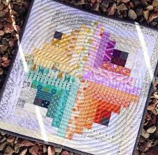 Best 25+ Spiral quilting ideas on Pinterest | Quilting, Machine ... & Perfectly square log cabins, spiral quilting. How delicious. And amazing  ombre style rainbows Adamdwight.com