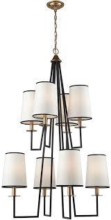 dimond d3573 nico oil rubbed bronze antique gold leaf chandelier lamp loading zoom