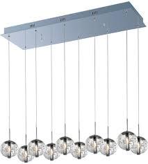 et2 e24256 91pc orb 10 light 11 inch polished chrome pendant ceiling light photo