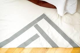 rug tape applied to underside of diy rug
