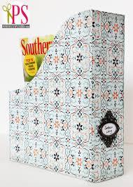 Magazine Holder Template Beauteous DIY Magazine Files Free Template Positively Splendid Crafts