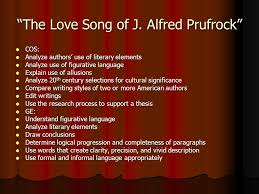 The Love Song of J  Alfred Prufrock   by T  S  Eliot Last