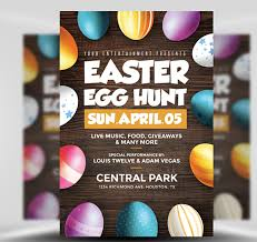 Easter Egg Hunt Flyer Template Flyerheroes