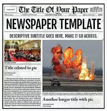Microsoft Newspaper Template Free Newspaper Ad Template For Word Headline Free Microsoft 2007