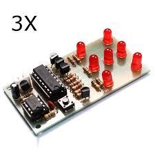 <b>3Pcs</b> Electronic Dice <b>DIY</b> Kit 5mm <b>Red LED</b> Interesting Parts NE555 ...