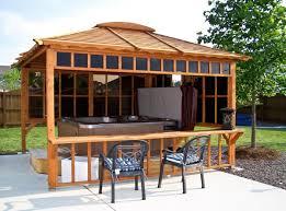 Closed Gazebo Designs Best Hot Tub Gazebos Kits Design Home Ideas