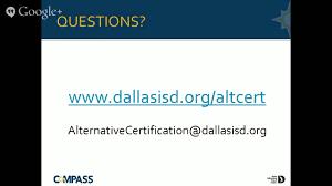 compass alternative certification teacher academy info session alternative teacher certification dallas