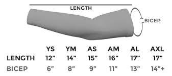 Mcdavid Compression Arm Sleeve Sizing Chart Compression Arm Sleeve 30 Colors Custom Sports Sleeves