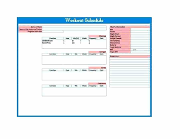 Resistance Training Program Template Effective Workout Log