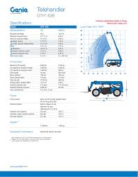 Genie 5519 Load Chart Genie Gth_636 Product Specifications Manualzz Com