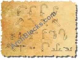 autocad blocks faucets