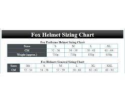 61 Qualified Fox Helmet Sizing Chart