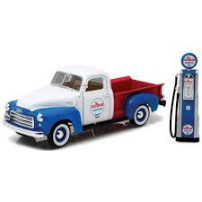 1950 Chevron Diecast Pickup Trucks & Vintage Toy Gas Pump