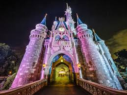 cinderella castle shines with holiday