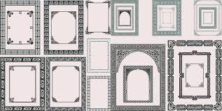 antique square frame vector border60 antique