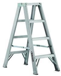 4 ft twin louisville aluminium twin front step ladder