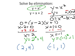 solving systems of linear and quadratic equations algebraically