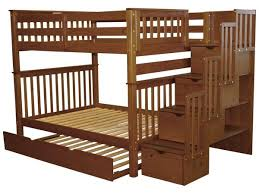 Bunk Bed Taller than Standard Height Beds. Dimensions for the Bedz King BK 981 Full over Beds Stairway Expresso | Trundle $1095