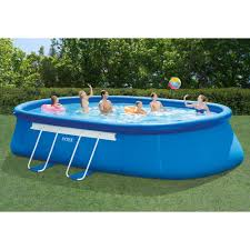intex pools intex 20 x 12 x 48 oval frame above ground swimming pool