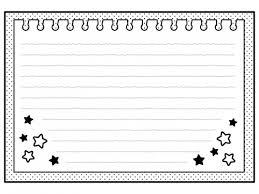 お星さま柄のノートの白黒フレーム飾り枠イラスト 無料イラスト