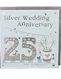 Happy Silver Wedding Anniversary Cards Molly Mae Greeting Cards