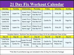 Day Fix Workout Calendar Exercise A 30 Diet And – Peero Idea