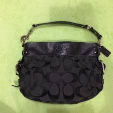 Coach Signature Black Zoe Hobo Handbag (Large), Luxury, Bags ...