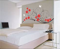 Pretty Decorations For Bedrooms Bedroom Pretty Wall Design Spiffy Red Flower Paintings White