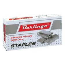 <b>Скобы для степлера Berlingo</b> №24/6 оцинкованные, 1000 шт/уп ...