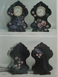 PATTI McMILLAN 1993 FLORAL ROSE LILAC VIOLET CLOCK FOLK ART ...