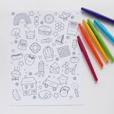 Small Picture hello Wonderful FREE PRINTABLE KAWAII COLORING PAGE