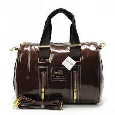 Coach Smooth Medium Coffee Luggage Bags AQQ