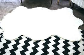 fur accent rug lovely runner for kitchen amazing faux rugs white small black sheepskin area